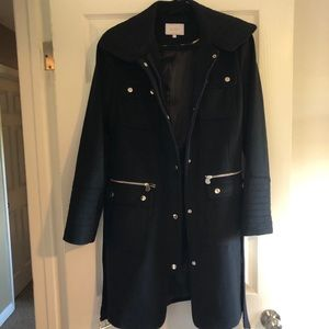 Laundry Belted Military Style Coat